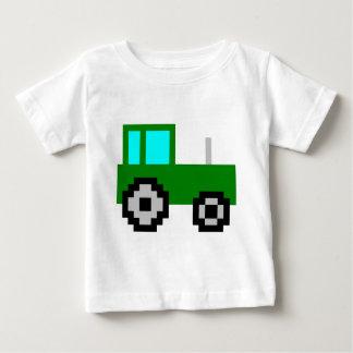 Tracteur de vert d'art de pixel t-shirt pour bébé