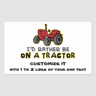 Tracteur drôle stickers en rectangle