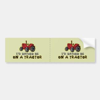Tracteur drôle autocollant pour voiture