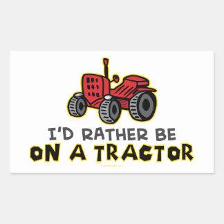 Tracteur drôle sticker rectangulaire
