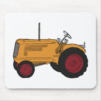 Tracteur jaune tapis de souris