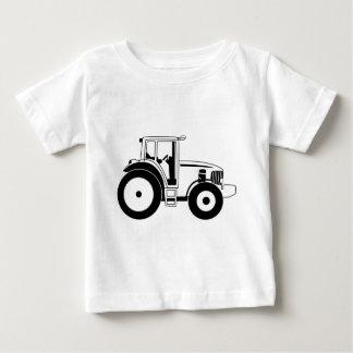 Tracteur noir et blanc t-shirt pour bébé