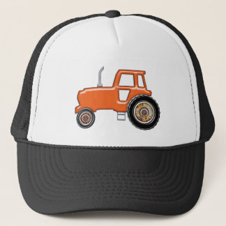 Tracteur orange brillant casquette