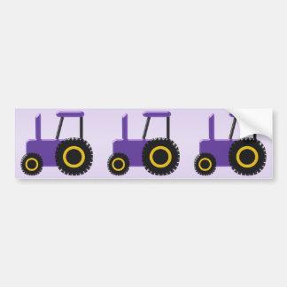 Tracteur pourpre autocollant de voiture