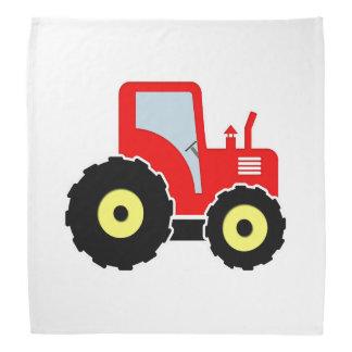 Tracteur rouge de jouet bandana