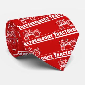 Tracteur rouge drôle cravates