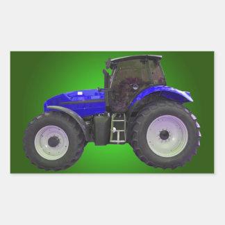 tracteur sticker rectangulaire
