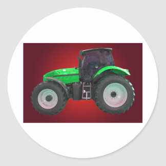 tracteur sticker rond