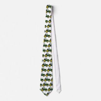 Tracteur vert cravate