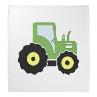 Tracteur vert de jouet bandana