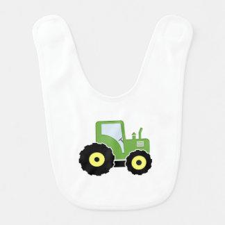 Tracteur vert de jouet bavoir