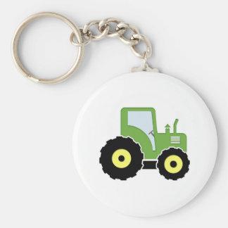 Tracteur vert de jouet porte-clés