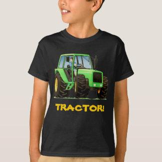 Tracteur vert fait sur commande d'enfant t-shirt