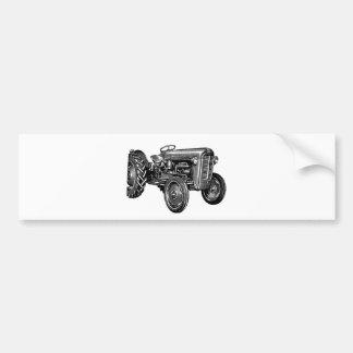 Tracteur vintage autocollant de voiture