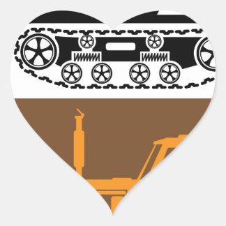 Tracteur vintage sticker cœur