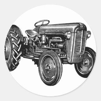 Tracteur vintage sticker rond