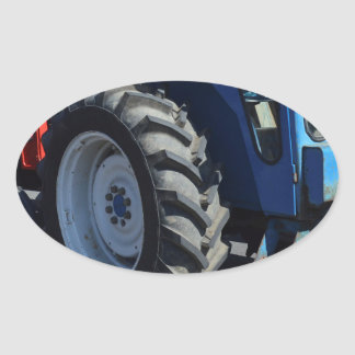 Tracteurs Stickers Ovales