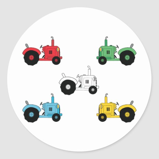 Tracteurs Adhésif Rond