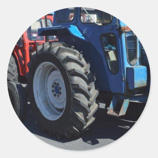 Tracteurs Autocollants Ronds