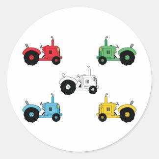 Tracteurs Sticker Rond