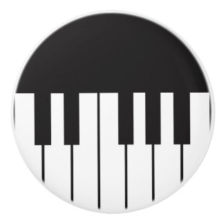 Traction de tiroir de clés de piano bouton de porte en céramique