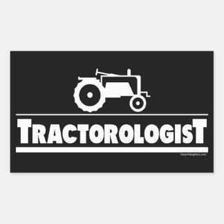 Tractorologist - tracteur sticker en rectangle
