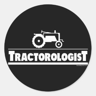 Tractorologist - tracteur sticker rond