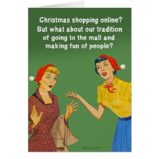 Tradition d'achats de Noël Carte De Vœux
