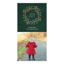 Tradition joyeuse cartes de vœux avec photo