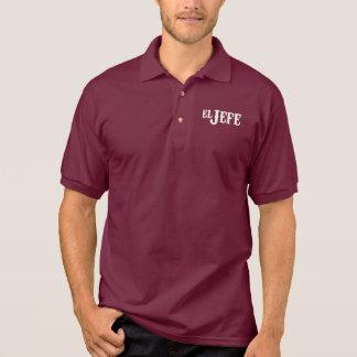 Traduction d'EL Jefe la chemise drôle de patron Polo