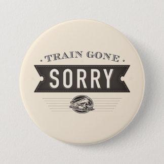 Train allé désolé. Bouton d'idiome d'ASL Badges