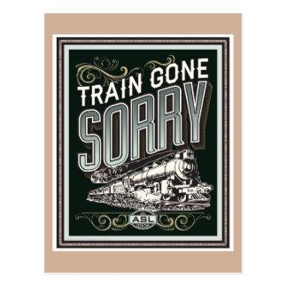 Train allé désolé. une carte postale