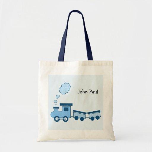 Train bleu de Choo Choo Sac