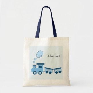 Train bleu de Choo Choo Sac En Toile Budget