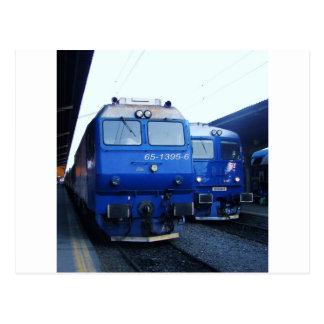 Train bulgare cartes postales