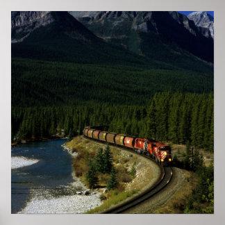 Train canadien poster