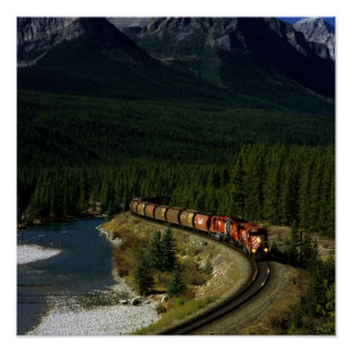 Train canadien posters