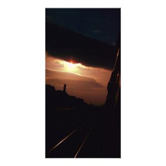 Train de début de la matinée cartes avec photo