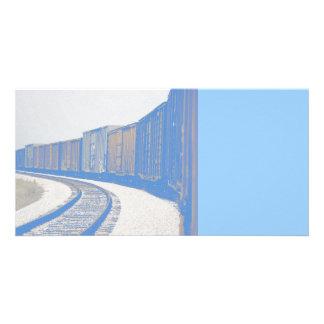 Train de fret photocartes personnalisées