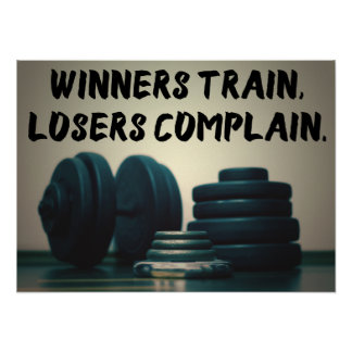 Train de gagnants… Affiche de motivation de forme Posters