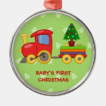 Train de jouet, premier Noël du bébé Ornement