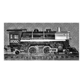 Train de modèle d'échelle de G Cartes De Vœux Avec Photo
