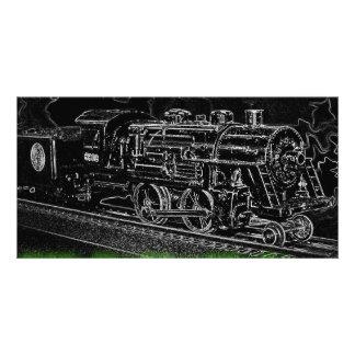 Train de modèle d'échelle d'O - montez le train de Carte Avec Photo
