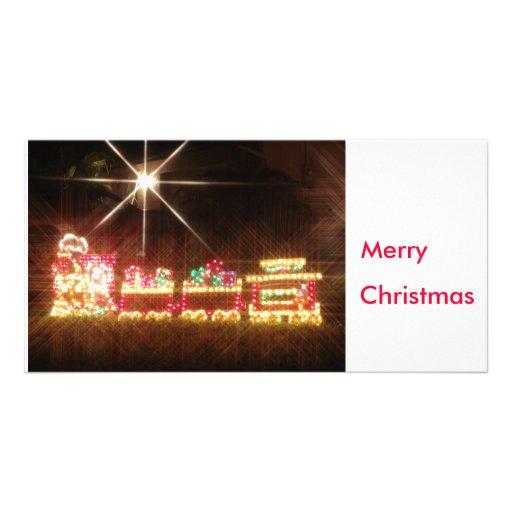 Train de Noël Photocartes Personnalisées