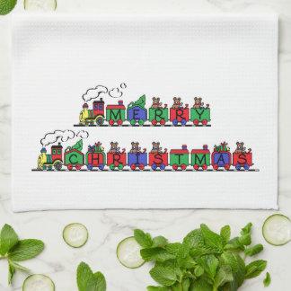 Train de Noël Serviettes Éponge