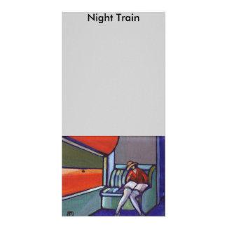 Train de nuit photocartes personnalisées