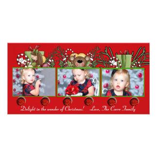Train de photo de Noël - carte de vacances Cartes De Vœux Avec Photo