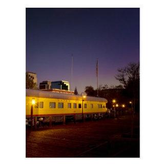 Train Pacifique des syndicats à vieux Sacramento Carte Postale
