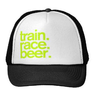 TRAIN.RACE.BEER. Chapeau de camionneur Casquette