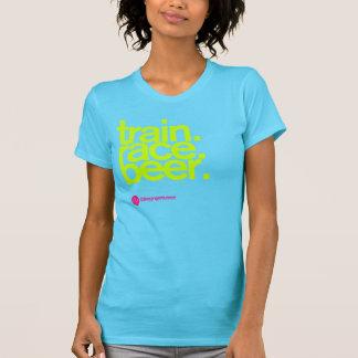 TRAIN.RACE.BEER. Le T-shirt des femmes